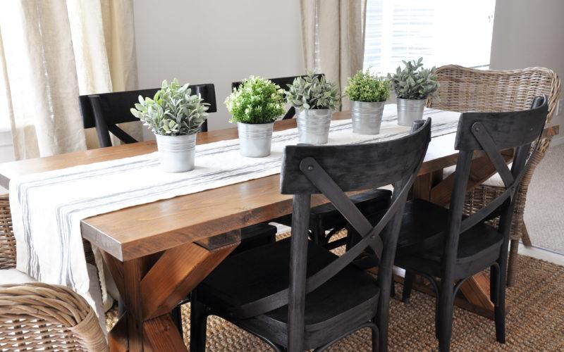 X Brace Farmhouse Table   Free Plans