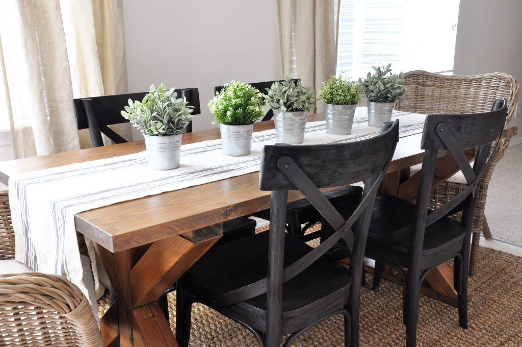 x brace farmhouse table free plans farm style kitchen table This easy to build Farmhouse Table is the perfect addition to any dining or breakfast room