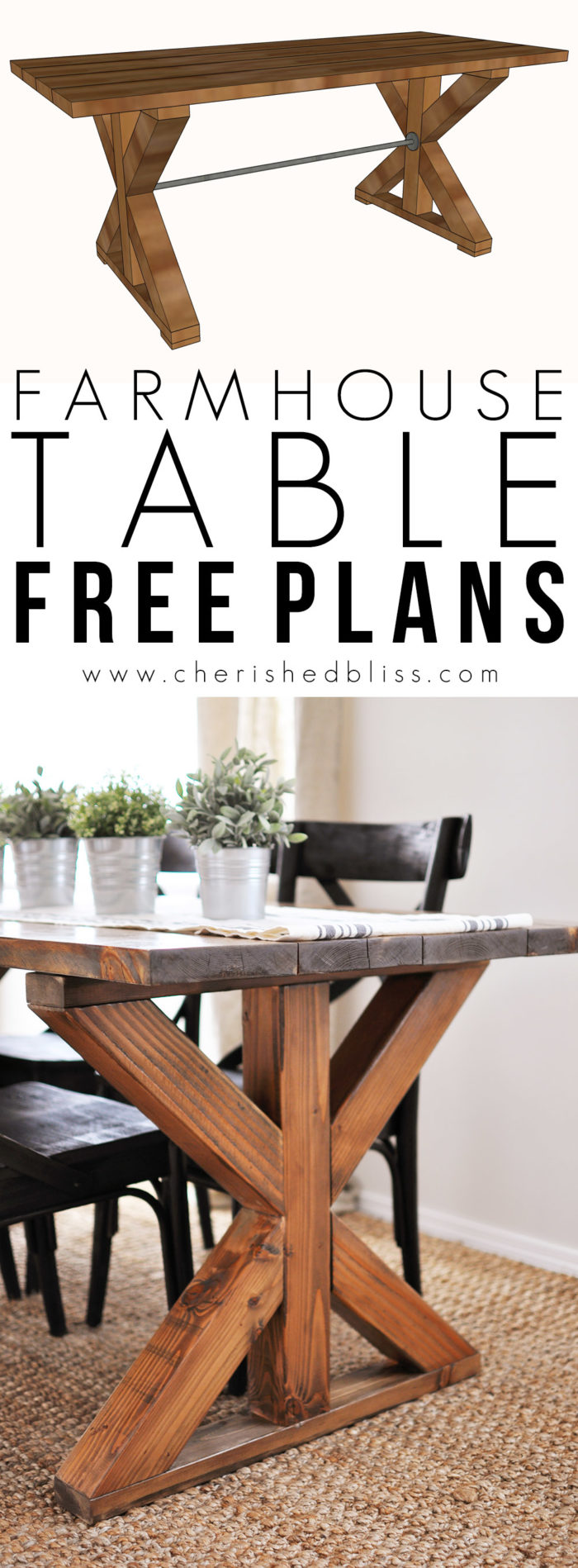 x brace farmhouse table free plans cherished bliss dining room table plans free pdf plans contemporary