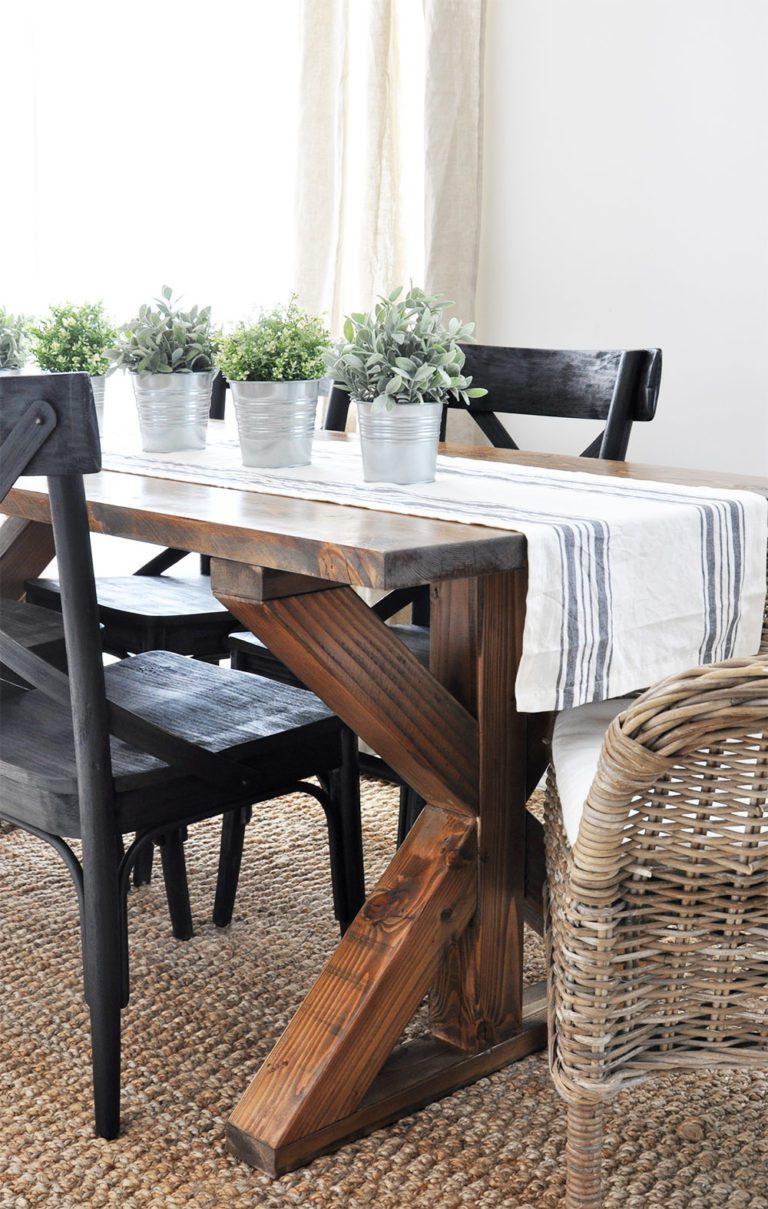 X side of Farmhouse Table