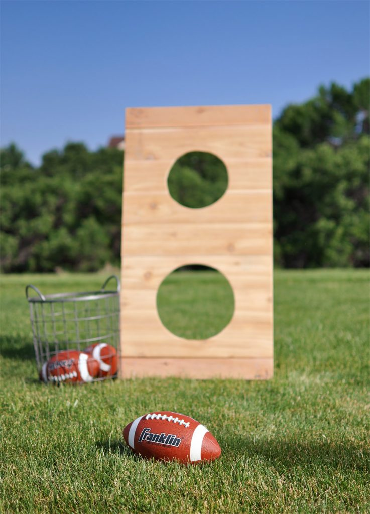 Diy Football Toss Outdoor Game Tutorial