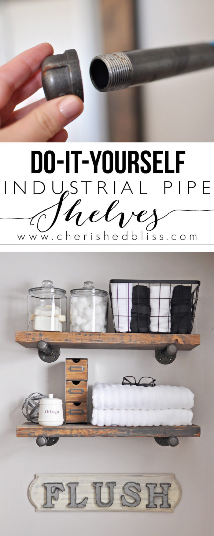 Quick & Easy DIY Industrial Pipe Shelves
