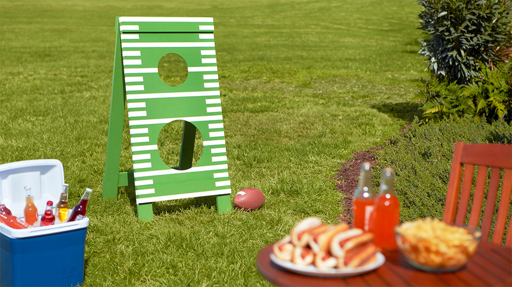 Backyard Games Learn How To Build This Diy Football Toss Game Following This Simple Tutorial