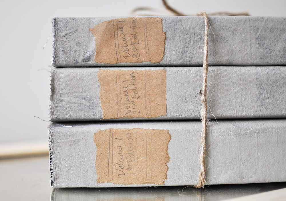 Diy restoration hardware book set knock off cherished bliss create this beautiful restoration hardware book set at a fraction of the cost using thrift store solutioingenieria Images