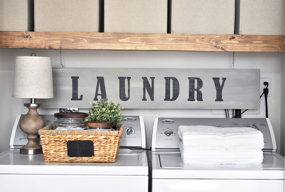 This Laundry Room Makeover Transforms This Little Closet With Wasted Space  Into A Functional Laundry Area