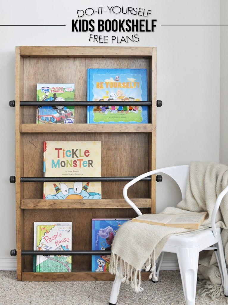 Learn How To Build This Style Kids Bookshelf