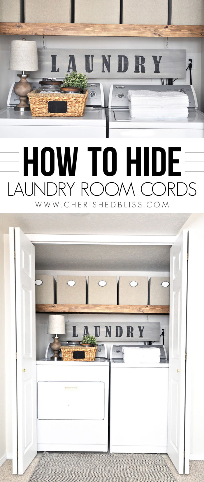 How To Hide Cords With A Wooden Sign Cherished Bliss