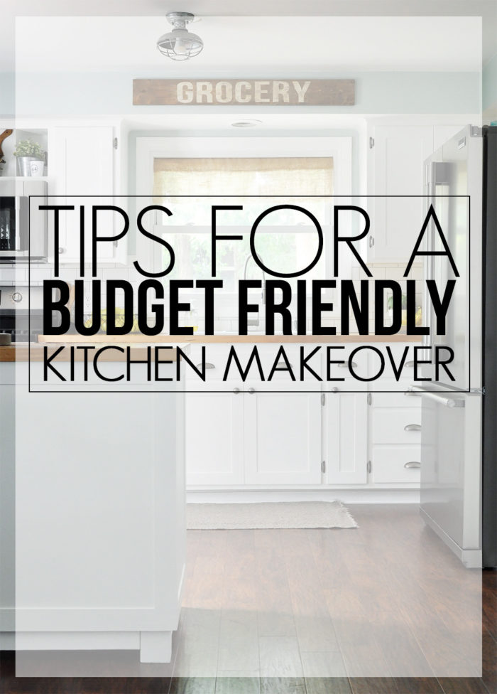 Kitchens can be an expensive. With these tips for a budget friendly kitchen makeover you will be straight on your way to the kitchen of your dreams