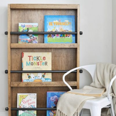 Industrial Kids Bookshelf Free Plans