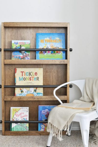 Learn how to build this Industrial Style Kids Bookshelf.