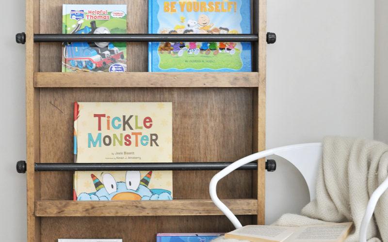 Industrial Kids Bookshelf Free Plans + Giveaway