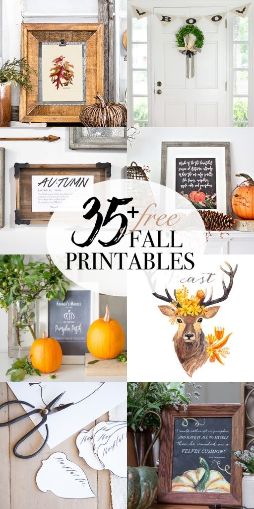 Looking for easy Fall Decor? This Autumn Definition Printable along with over 35 more is the perfect way to easily add a little Fall Decor to your home.
