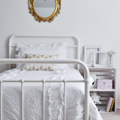 Feminine Vintage Chic Bedroom for a Big Girl