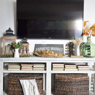 Cozy Fall Mantel Decor Without a Mantel
