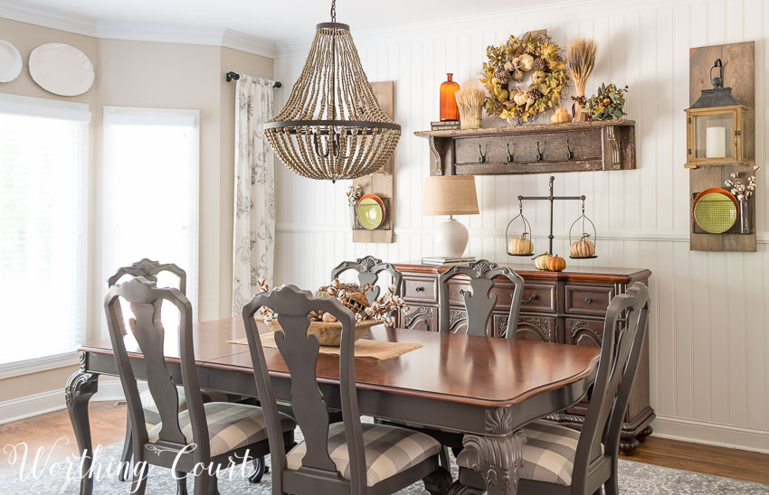 Diy farmhouse projects link party cherished bliss for Farmhouse dining room ideas