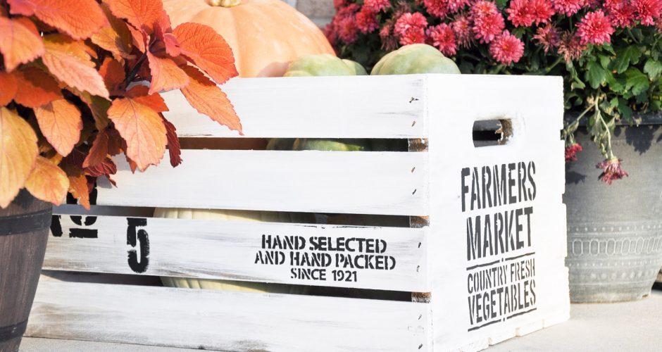 DIY Fall Farmhouse Crate