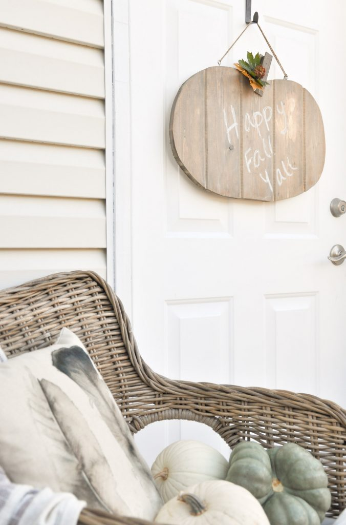 Learn how to build this Rustic Pumpkin Door Hanger. This tutorial can easily be transitioned for any seasonal character. Your imagination is the limit!