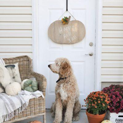Rustic Pumpkin Door Hanger