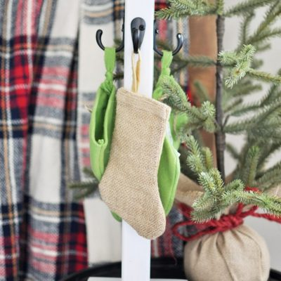 DIY Christmas Stocking Pole
