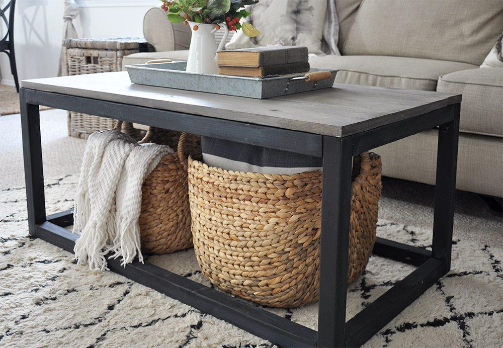 farmhouse coffee table plans Industrial Farmhouse Coffee Table Free Plans   Cherished Bliss farmhouse coffee table plans