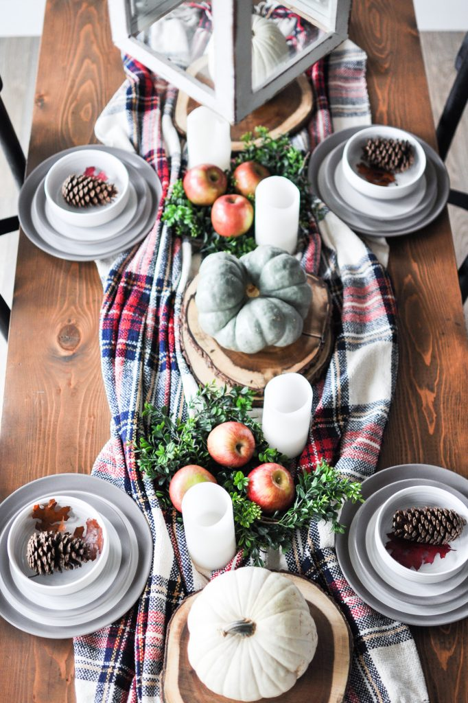 Enjoy this beautiful Simple, Cozy Fall Tablescape that can easily transition right into the Christmas Season.