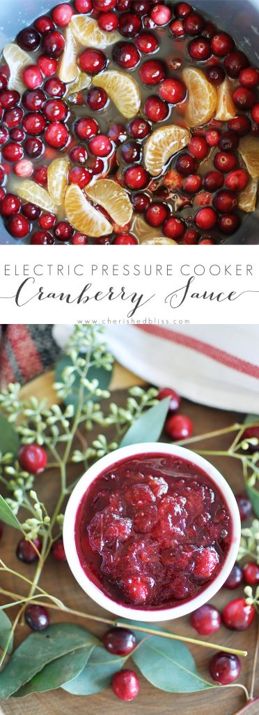 Fresh cranberries are transformed into a beautiful citrus-infused jam with this recipe for the perfect Holiday Electric Pressure Cooker Cranberry Sauce.