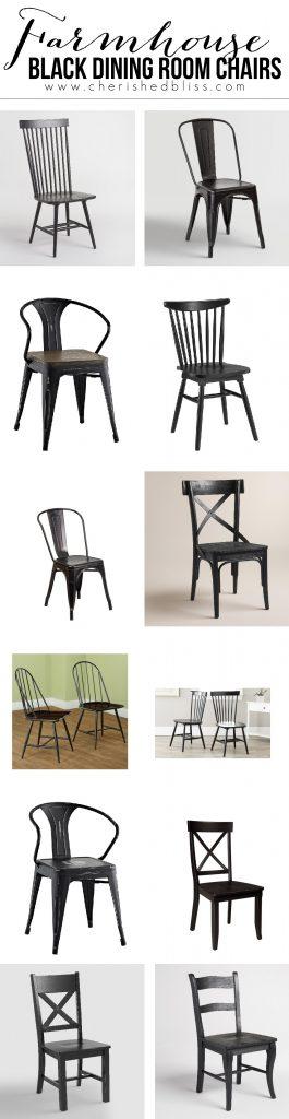 farmhouse-black-dining-room-chairs