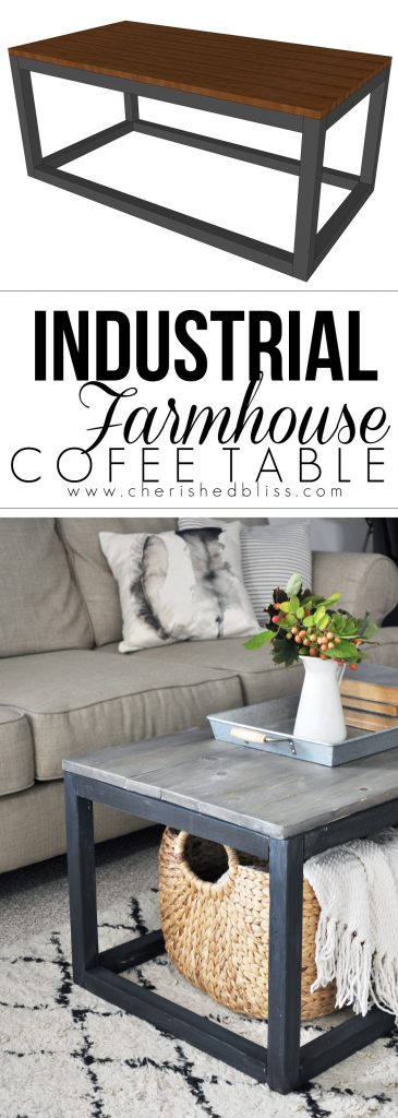 Get the Free Plan for this Industrial Farmhouse Coffee Table