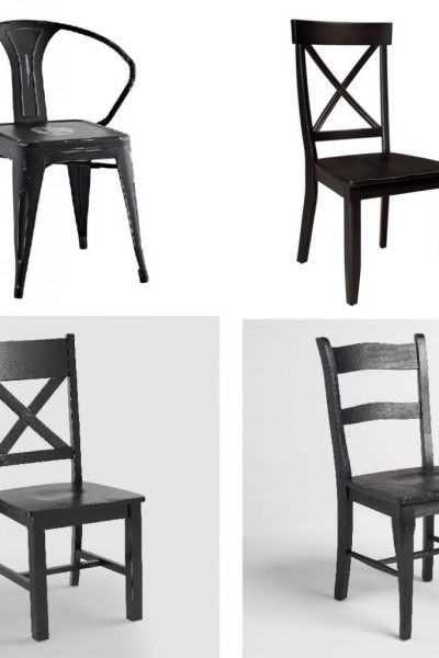 Farmhouse Style Black Dining Room Chairs