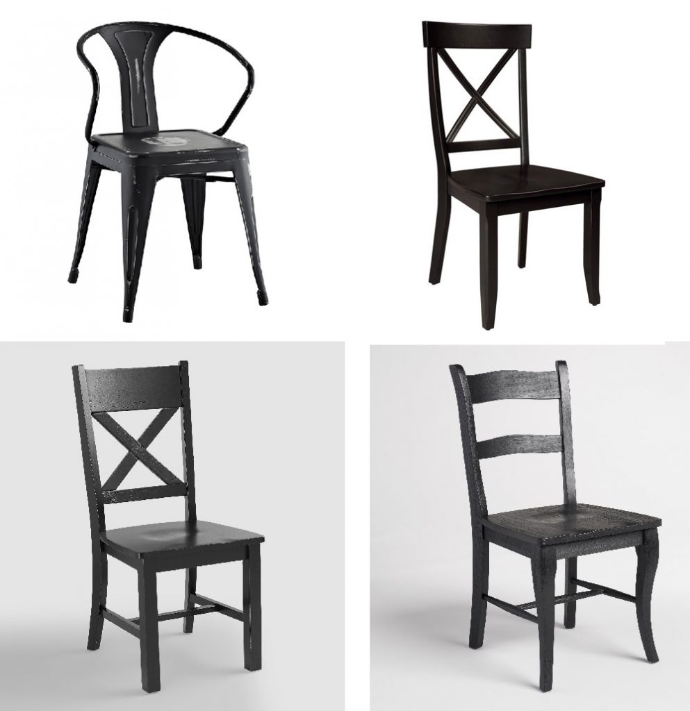 Farmhouse Style Black Dining Room Chairs Cherished Bliss