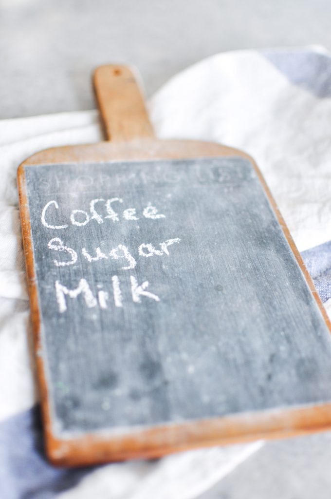 Never forget what you need at the store again with this farmhouse style Chalkboard Cutting Board. It's magnetic to keep it easily visible on your fridge!