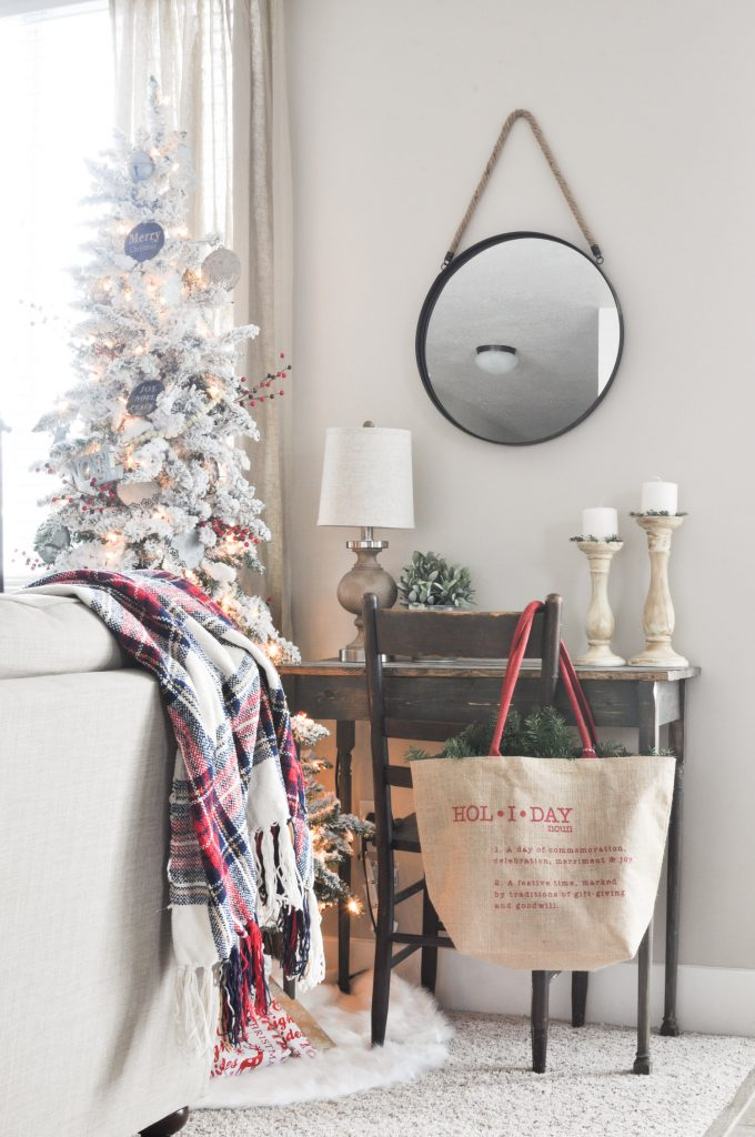 Take a tour of this beautiful, neutral Christmas Living Room.