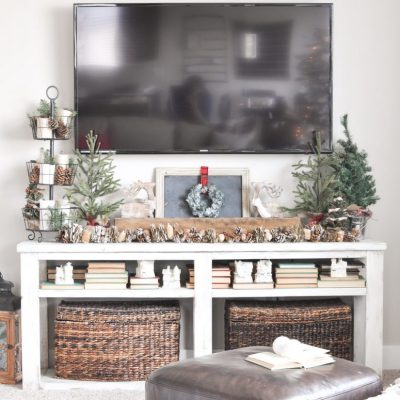 Neutral Christmas Living Room Tour
