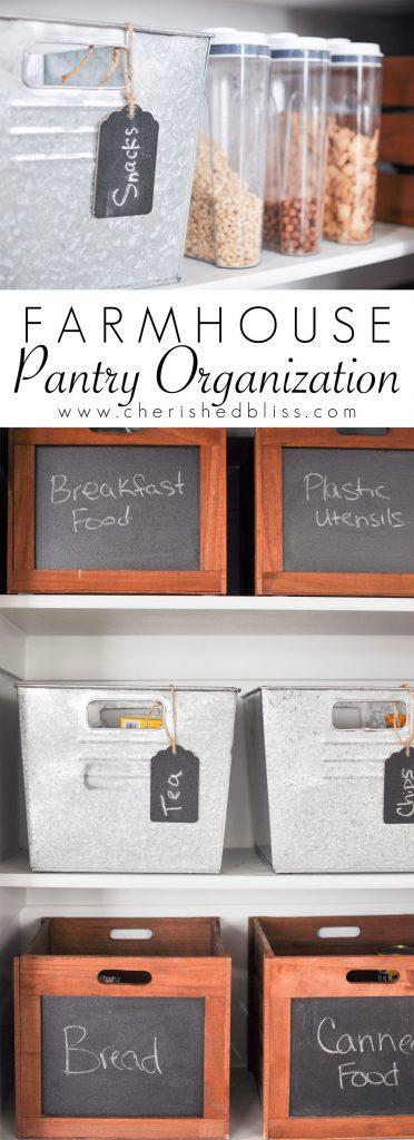 Farmhouse Pantry Organization
