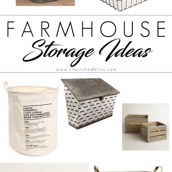 Farmhouse Storage Ideas   Sunday Shopping Guide