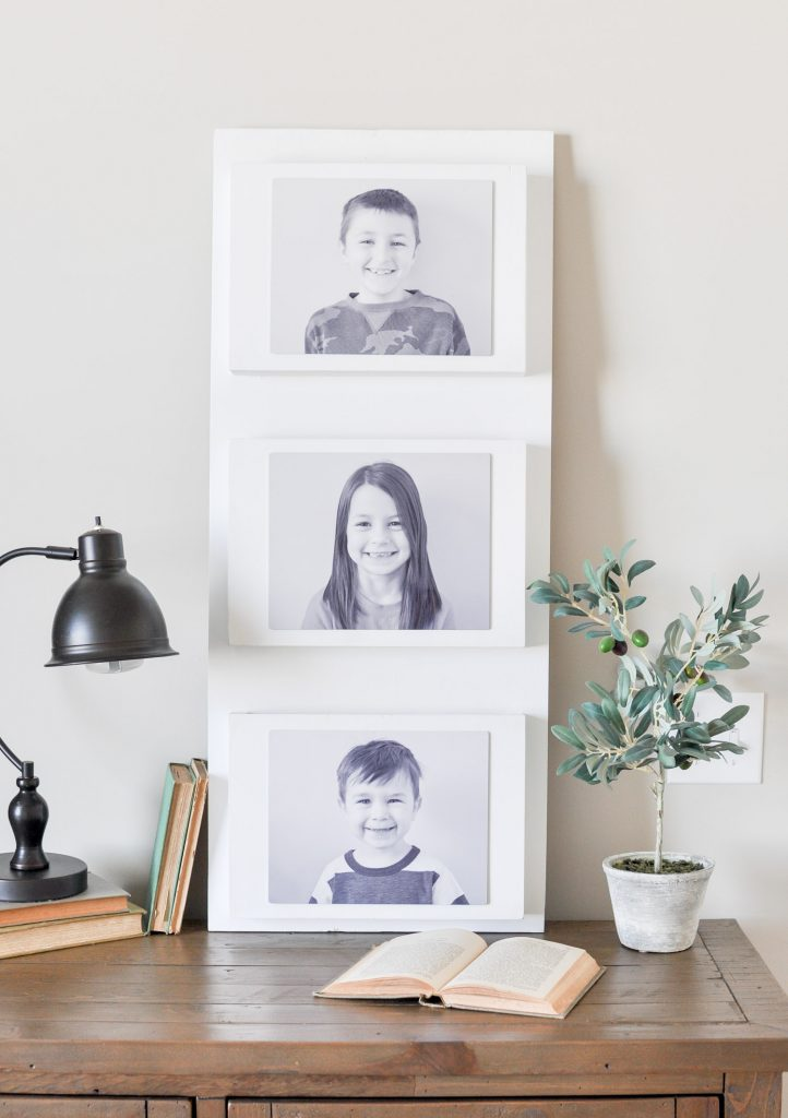 A DIY Photo Wall Pocket Organizer