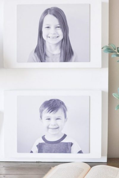 DIY Photo Wall Pocket Organizer