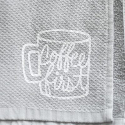 Coffee Kitchen Towel Tutorial | Cricut Explore Air