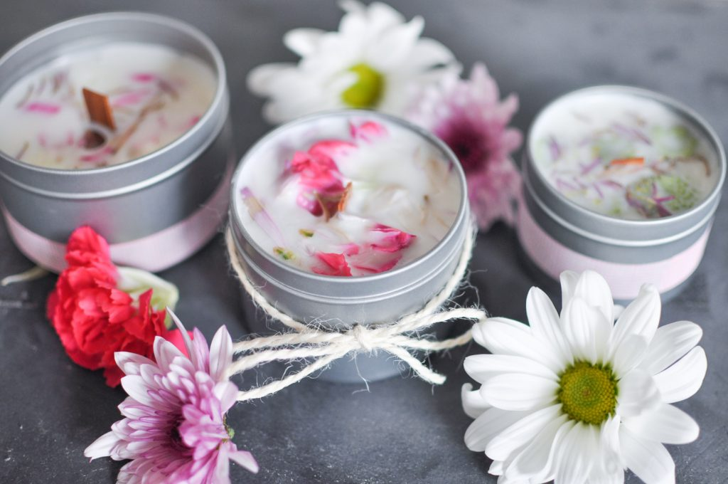 How to Make Floral Candles
