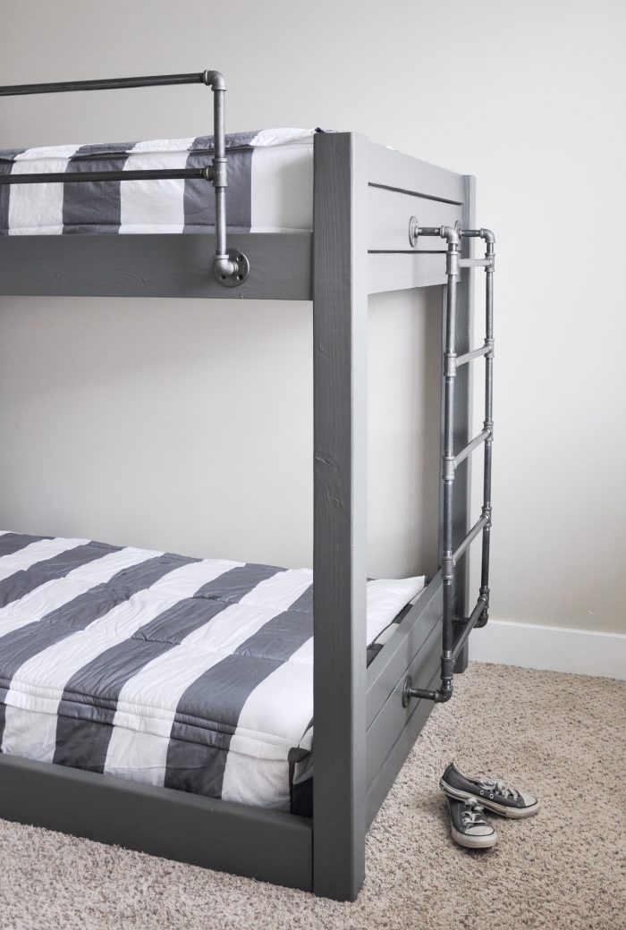 Picture of: Diy Industrial Bunk Bed Free Plans Cherished Bliss