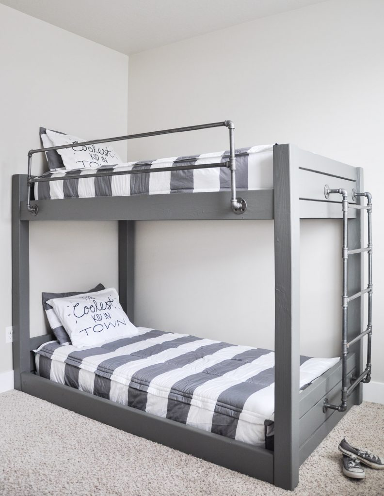 Diy industrial bunk bed free plans cherished bliss for Bunk bed design ideas