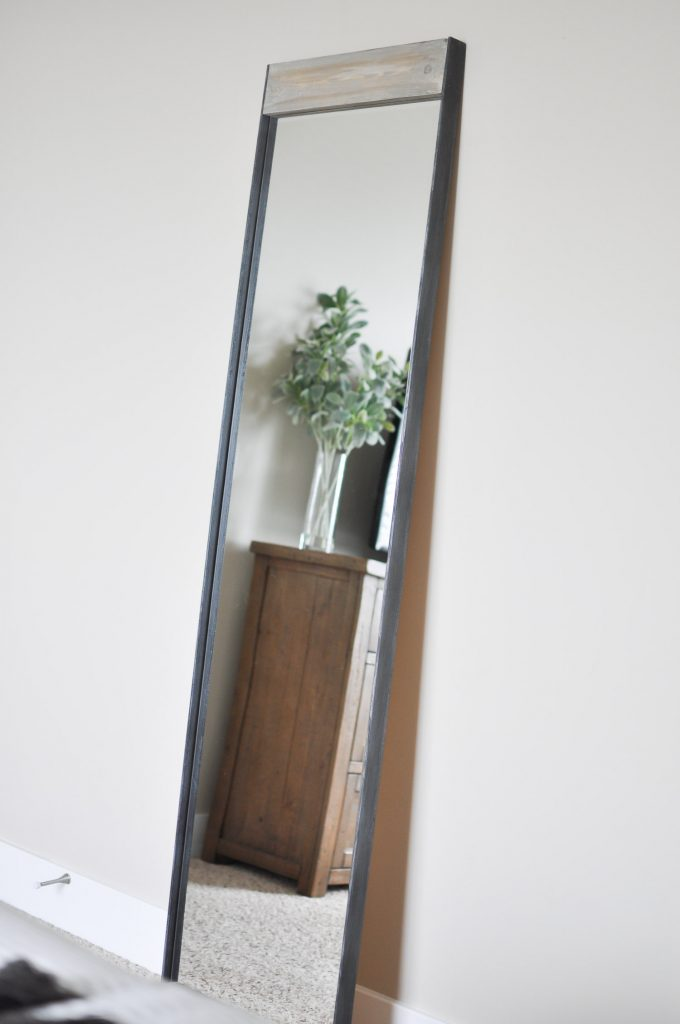 Metal and Wood Floor Mirror tutorial