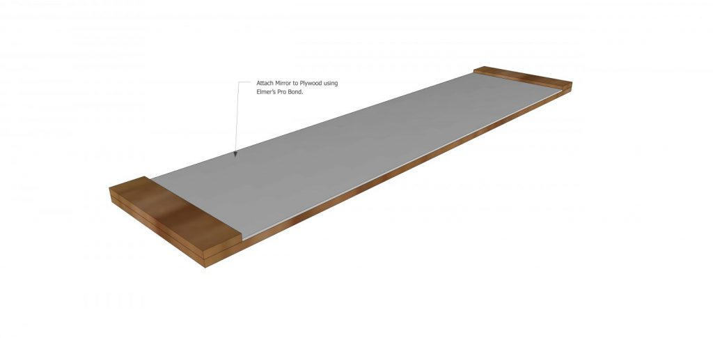 Metal and Wood Floor Mirror tutorial