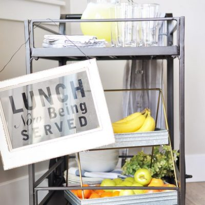 Getting Ready for Spring   Outdoor Serving Cart