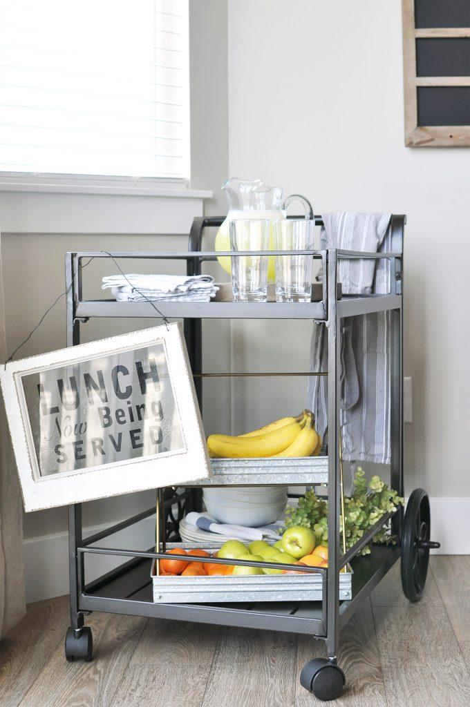 Industrial style Outdoor Serving Cart, perfect for those days in the summer sun!