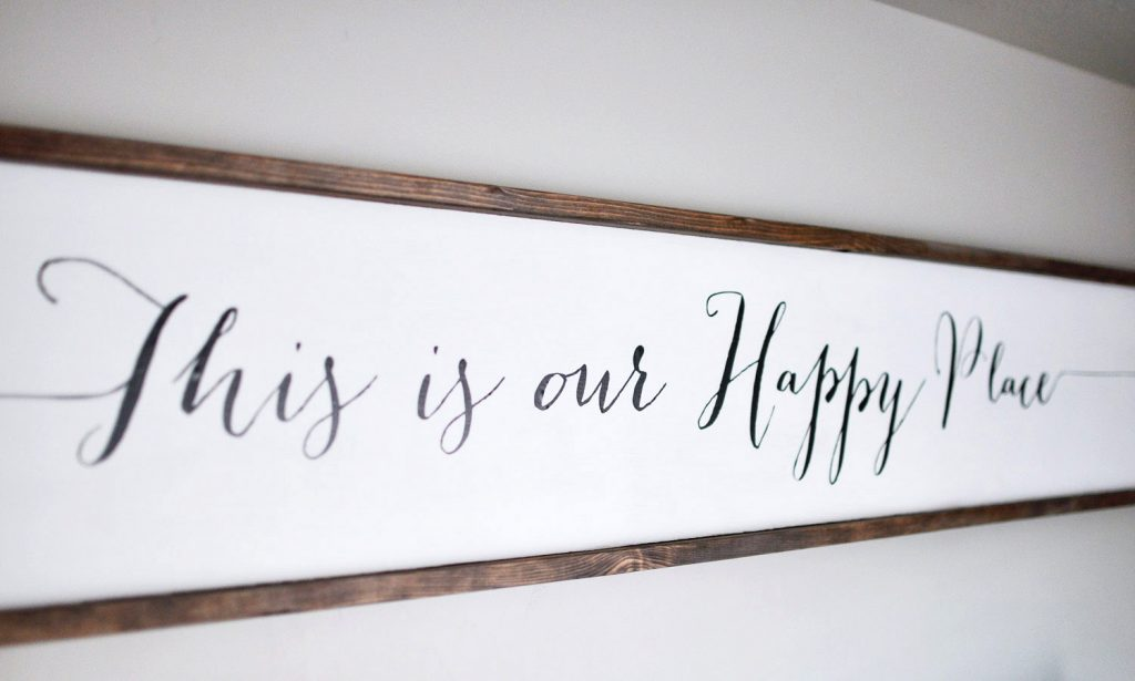 DIY Large Wooden Sign Using Cricut Explore Air - Cherished Bliss