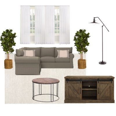 Living Room Makeover Design Board