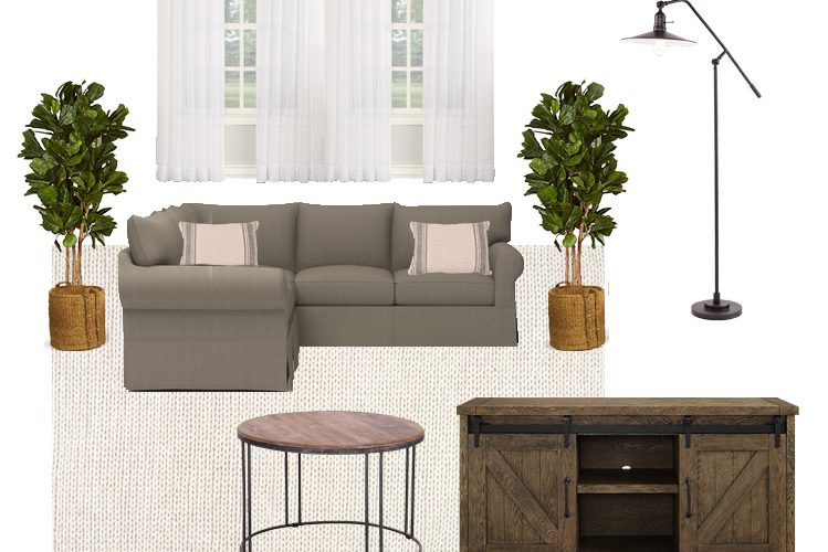 Living Room Makeover Design Board