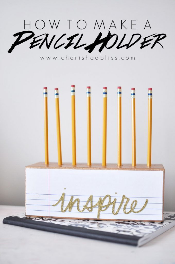 Learn how to make this adorable DIY Wooden Pencil Holder by following these simple steps! This Pencil Holder is the perfect gift for teachers or art lovers!