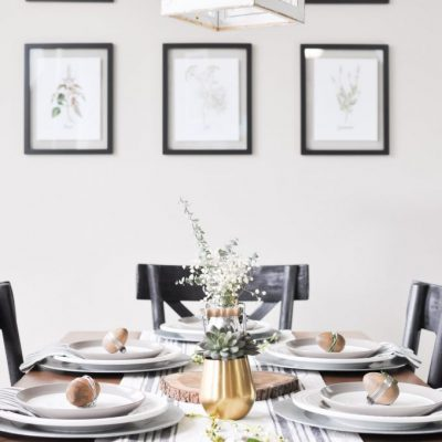 Simple, Modern Easter Tablescape
